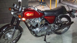 Photo of David Blanken's motorcycle