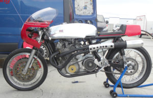 Photo of Herberts Seeley's motorcycle