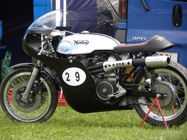 Photo of Herbert Toscany's motorcycle