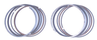 Replacement regular style piston ring sets for JS lightweight pistons