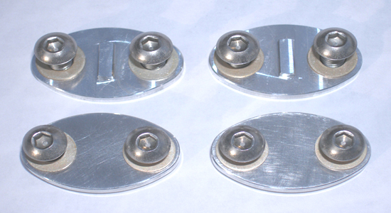 One piece aluminum rocker spindle covers